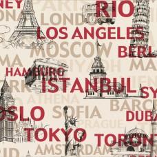 Dekor Life 853-A İstanbul Yazılı Vinil Duvar Kağıdı