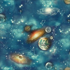New Art 1009-A Uzay Temalı Çocuk Odası Duvar Kağıdı