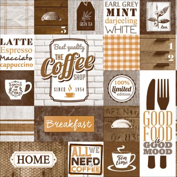 New Art 1038-C Cafe Temalı Pop Art Duvar Kağıdı