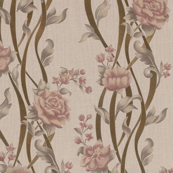 Dekor Star 1870-B Çiçekli Vinil Duvar Kağıdı