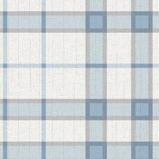 Freedom 14114-5 Mavi Ekose Desenli Duvar Kağıdı