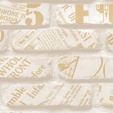 Freedom 14236-1 Tuğla Desen Gazete Baskılı Duvar Kağıdı