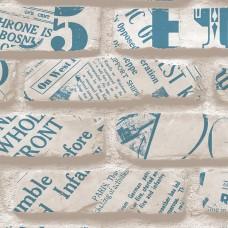 Freedom 14236-2 Tuğla Desenli Pop Art Duvar Kağıdı