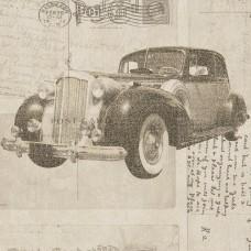 Freedom 14251-2 Antika Model Araba Desenli Duvar Kağıdı