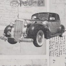 Freedom 14251-3 Eski Model Araba Desenli Duvar Kağıdı