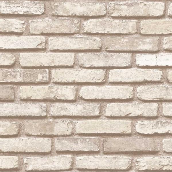 İnception 71148-4 Krem Tuğla Desenli Duvar Kağıdı