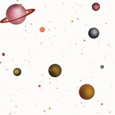 Kids Collection 15137-1 Gezegen Desenli Çocuk Odası Duvar Kağıdı