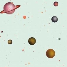 Kids Collection 15137-2 Galaksi Görünümlü Duvar Kağıdı