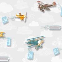 Kids Collection 15157-1 Uçak Desenli Çocuk Odası Duvar Kağıdı