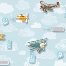 Kids Collection 15157-3 Uçak Görünümlü Çocuk Odası Duvar Kağıdı