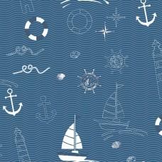 Kids Collection 15163-2 Çapa Desenli Çocuk Odası Duvar Kağıdı