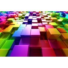 DLDP-018 Renkli Küpler 3D Duvar Posteri