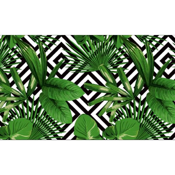 Elemental 42021-1 Yeşil Yaprak Görünümlü Duvar Kağıdı