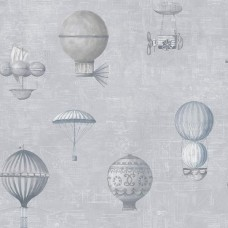 Steampunk G56201 Uçan Balon Desenli Duvar Kağıdı