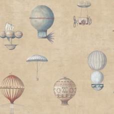 Steampunk G56203 Balon Desenli Duvar Kağıdı