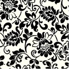 Gekkofix 10246 Siyah Çiçekli Dekoratif Yapışkanlı Folyo