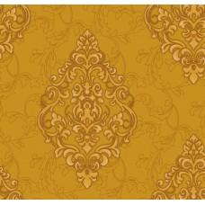 Nirvana 42012-4 Hardal Damask Desenli Duvar Kağıdı