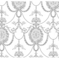 Nirvana 42040-2 Beyaz Zemin Gri Desenli Duvar Kağıdı