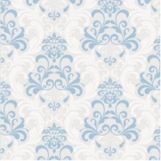 Forever 14904 Non Woven Mavi Damask Desenli Duvar Kağıdı