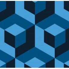 3D Art 7016 Mavi Küp Desenli 3D Duvar Kağıdı