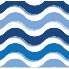 3D Art 7079 Mavi Dalgalı Duvar Kağıdı