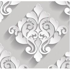 3D Art 7083 3 Boyutlu Damask Desen Duvar Kağıdı