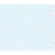 Grown Baby 102-2 Bulut Desenli Non Woven Duvar Kağıdı