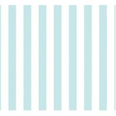 Grown Baby 130-2 Mavi Beyaz Çizgili Duvar Kağıdı