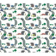 Grown Baby 131-1 Araba Desenli Çocuk Odası Duvar Kağıdı