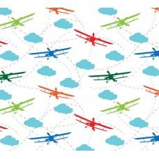 Grown Baby 135-1 Non Woven Uçak Desenli Duvar Kağıdı