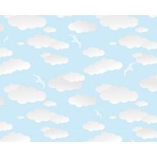 Grown Baby 137-4 Bulut Desen Erkek Çocuk Odası Duvar Kağıdı