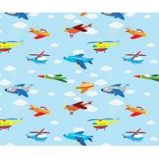 Grown Baby 144-1 Uçak Görünümlü Çocuk Odası Duvar Kağıdı
