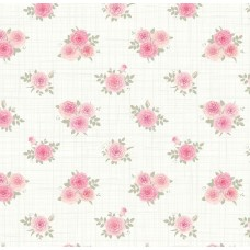 Floral Collection 5010 Pembe Gül Desenli Duvar Kağıdı