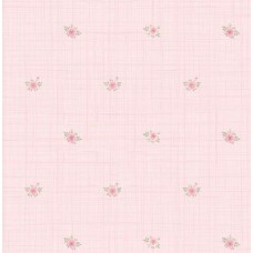Floral Collection 5013 Pembe Serpme Çiçekli Duvar Kağıdı