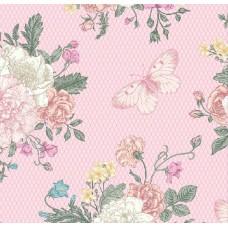 Floral Collection 5022 Kelebek Desenli Duvar Kağıdı