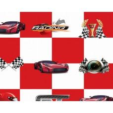 Kids Club 201-1 Yarış Arabalı Çocuk Odası Duvar Kağıdı