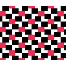 Kids Club 205-1 Kırmızı Siyah Kareli Duvar Kağıdı