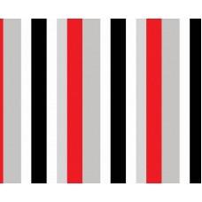 Kids Club 207-2 Gri Kırmızı Çizgili Duvar Kağıdı