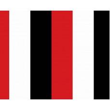 Kids Club 208-1 Kırmızı Siyah Çizgili Duvar Kağıdı