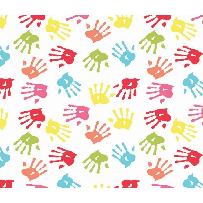 Kids Club 219 4 Rengarenk El Izi çocuk Odası Duvar Kağıdı