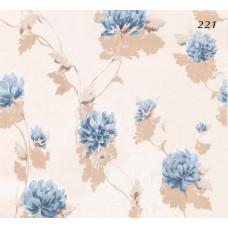 Halley Fashion 221 Mavi Çiçek Desenli Duvar Kağıdı