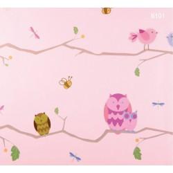 Kids Dream 6101 Baykuş Görünümlü Çocuk Odası Duvar Kağıdı