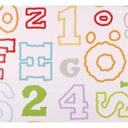 Kids Dream 6110 Harf ve Rakamlı Duvar Kağıdı