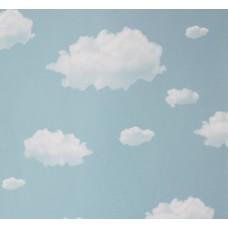 Happy Kids 1856 Mavi Bulut Desenli Duvar Kağıdı