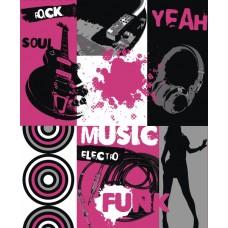 Jet Setter 05403 Müzik Temalı Genç Odası Duvar Kağıdı