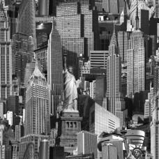 Jet Setter 102503 Amerika Görünümlü Pop Art Duvar Kağıdı