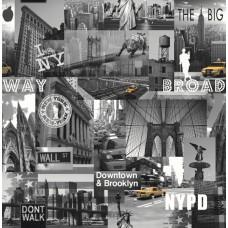 Jet Setter 102514 Brooklyn İthal Duvar Kağıdı