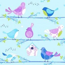 Just 4 Kids G56003 Kuş Görünümlü Çocuk Odası Duvar Kağıdı