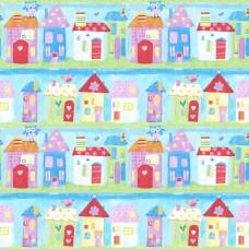 Just 4 Kids G56021 Ev Görünümlü Çocuk Odası Duvar Kağıdı