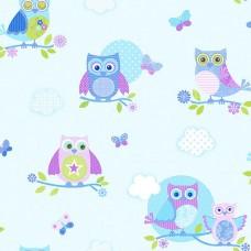 Just 4 Kids G56034 Baykuş Görünümlü Duvar Kağıdı
